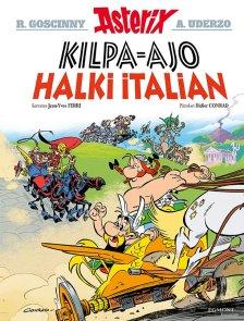 Asterix: Kilpa-ajo halki Italian. Ferri ja Conrad, 2017. Egmont Kustannus. Suomennos ranskasta.